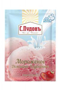 ПУДОВ Мороженое Клубничное 70г