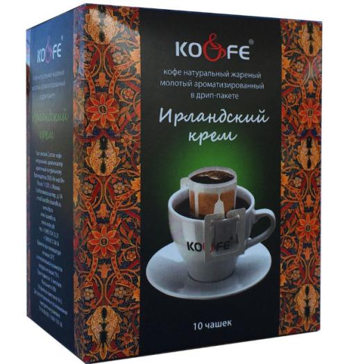 Кофе Ирландский крем натуральный молотый в дрип-пакетах (8 шт. по 8 г)