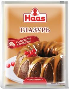 ХААС Глазурь карамельная 75 г сухая смесь
