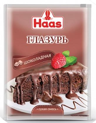 ХААС Глазурь шоколадная 75 г сухая смесь