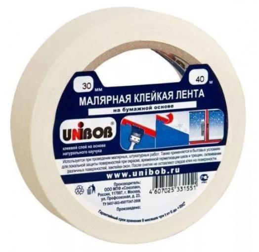 ХОЗТОВАРЫ UNIBOB арт. 331551 Малярная лента 30мм/40м